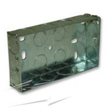 back boxes electrical back box sparks direct 2 gang 16mm deep flush metal back box twin flush backbox 70 x 130 x