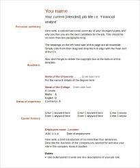Gallery Of Doc 603785 Blank Cv Template 7 Free Blank Cv Resume