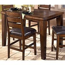 dining room table height. ashley furniture signature design - larchmont dining room table counter height with built-in o