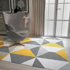 modern style rugs living room cream grey mustard large geometric rug 2 sizes
