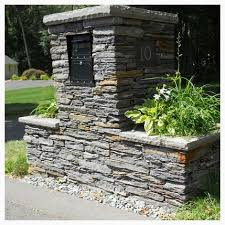 stone mailbox designs. Image Result For Stone Mailbox Planter Both Sides Designs
