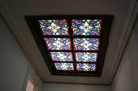 custom made stained glass skylight residential