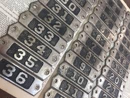 Antique Numbered Locker Number Plate Set 1 41 Post Office