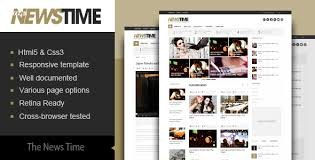 The News Time Magazine Html5 Template