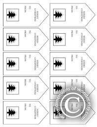 Free Printable Christmas Tags: Black & White - Dimensions of Wonder