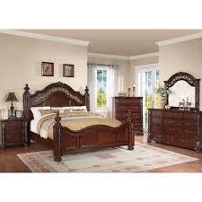Charleston Bedroom Bed Dresser & Mirror Queen