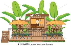 coffee shop building clipart. Perfect Clipart Clip Art  Coffee Shop Building Fotosearch Search Clipart Illustration  Posters Drawings Intended Shop Building Clipart N