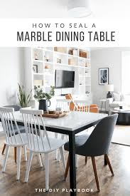 how to seal a marble table the right