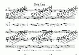 French Horn Scales Finger Chart Major Minor Scales French Horn A2 G5 For Solo Instrument Horn In F By Mark Feezell Ph D Sheet Music Pdf File To Download