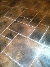 Large Kitchen Floor Tiles Floor Tile Patterns Kitchen This Darker Grout Works Because It