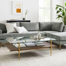 mid century art display coffee table