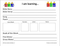 Homeschool Preschool Lesson Plan Template 15 Best Lesson Plan ...