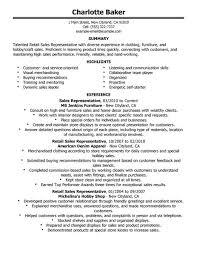 ... Unbelievable Retail Resume Skills 9 Best Rep Sales Example ...