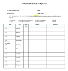 Trip Schedule Template Planner Template New Itinerary Vacation Custom Trip For Your Disney