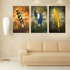 Modern Paintings For Living Room Oil Paintings On Canvas Feather White Modern Abstract Oil Painting