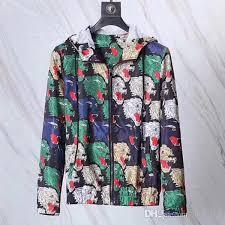 18ss italian design g coat brand rainbow leopard print jacket ribbed piping leopard head jacquard men s