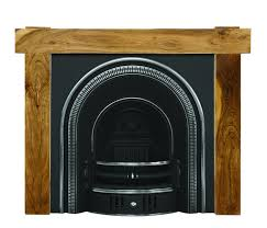 carron beckingham arched highlight polish cast iron fireplace insert and surround with a 131cm shelf width