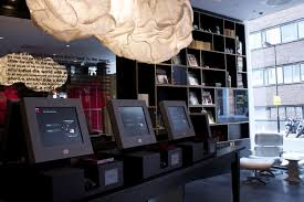 this is the checkin desk at citizenm hotel