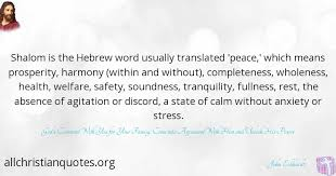 Hebrew Quotes Classy John Eckhardt Quote About Peace Prosperity Stress Shalom