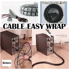 Cable management/ Cable Organizer/ Cable easy wrap/ Computer Cable Wire  Organizer/Coiled