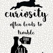 alice in wonderland printable wall art quote print curiosity leads to trouble typography on alice in wonderland wall art quotes with best alice in wonderland wall art products on wanelo