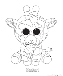 Small Picture Safari Beanie Boo Coloring Pages Printable
