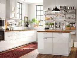 ikea white shaker cabinets. Large Brown And White Kitchen With An Island That Combines RINGHULT Doors In High Ikea Shaker Cabinets