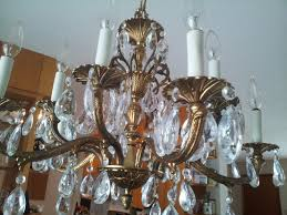 vintage chandelier parts antique brass and crystal for dining room