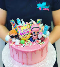 Pink Candy Lol Doll Cake The Girl On The Swing