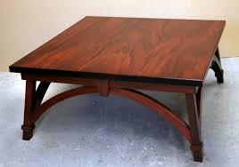 a square mahogany coffee table