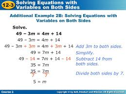 equations variable on both sides learn