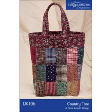 Tote Bag Sewing Pattern Unique Country Tote Pieced And Quilted Tote Bag Sewing Pattern By Indygo