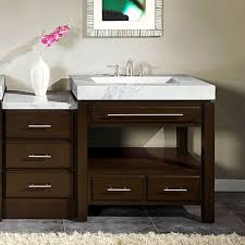 single sink vanity. Contemporary Vanity 56inch Modern Style White Marble Top Bathroom Single Sink Vanity Cabinet  0218WM To R