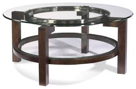 bassett mirror t1705 120 oslo round glass top cocktail table