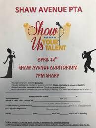Talent Show Flyer Shaw Avenue Pta