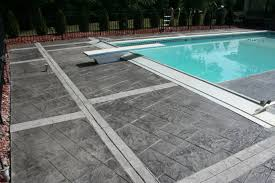 stained concrete patio gray. Installation Of Stamped Concrete Stained Patio Gray R