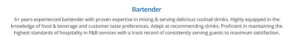 sample bartender resume bartender resume the complete 2019 guide with 20 samples