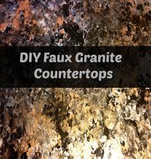 Diy Faux Granite Countertops Cheap Granite Countertops