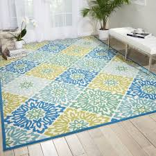 waverly sun n shade sweet things marine indoor outdoor area rug intended for yellow and blue rugs inspirations 1