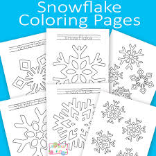 Small Picture Snowflake Coloring Pages Itsy Bitsy Fun
