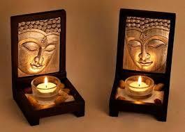wooden tealight candle holder from vatika new delhi