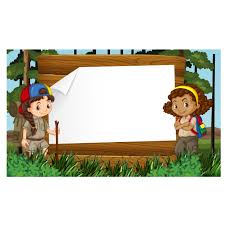 girl scouts frame design free vector