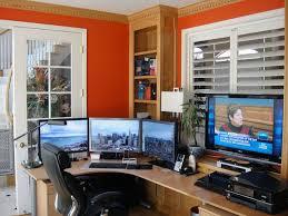 basement office setup 3. Home-office Setup | Setups Pinterest Computers, Home And Computer Basement Office 3