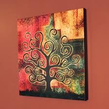 abstract tree art modern art for home canvas print tree of life