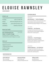 Modern Resumes Templates Extraordinary White And Aquamarine Modern Resume Templates By Canva