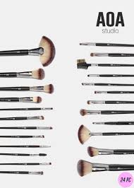 24 makeup brushes and their uses. aoa essential 24-piece brush set 24 makeup brushes and their uses