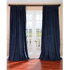 exclusive fabrics midnight blue velvet blackout extra wide curtain 93 liked on polyvore featuring home home decor window treatments curtains