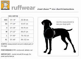 62 Expository Ruffwear Size Chart