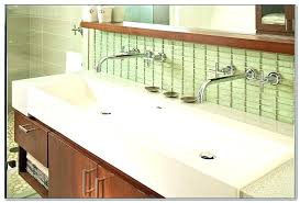 trough sink two faucets. Modren Two Wall Mounted Trough Sinks For Bathrooms Sink With Two Faucet Inch Hung  Bathroom Banner Repair Delta  Inside Faucets L