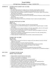 Elementary Teacher Resume Sample Elementary Teacher Resume Samples Velvet Jobs 26
